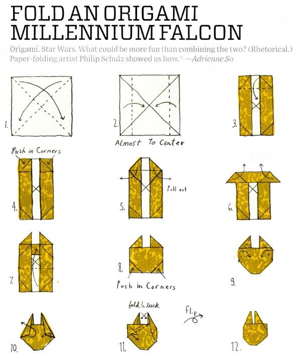 Origami Millennium Falke